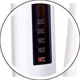 5段階の温度調整機能