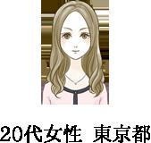 20代女性 東京都